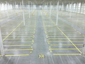 Indoor Warehouse - After Line Striping 6