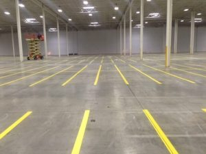 Indoor Warehouse - After Line Striping 2