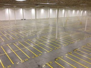 Indoor Warehouse - After Line Striping 1