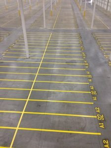 Indoor Warehouse - After Line Striping 5